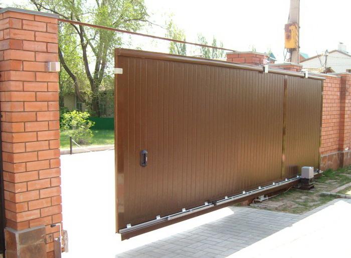 Раздвижные электро ворота